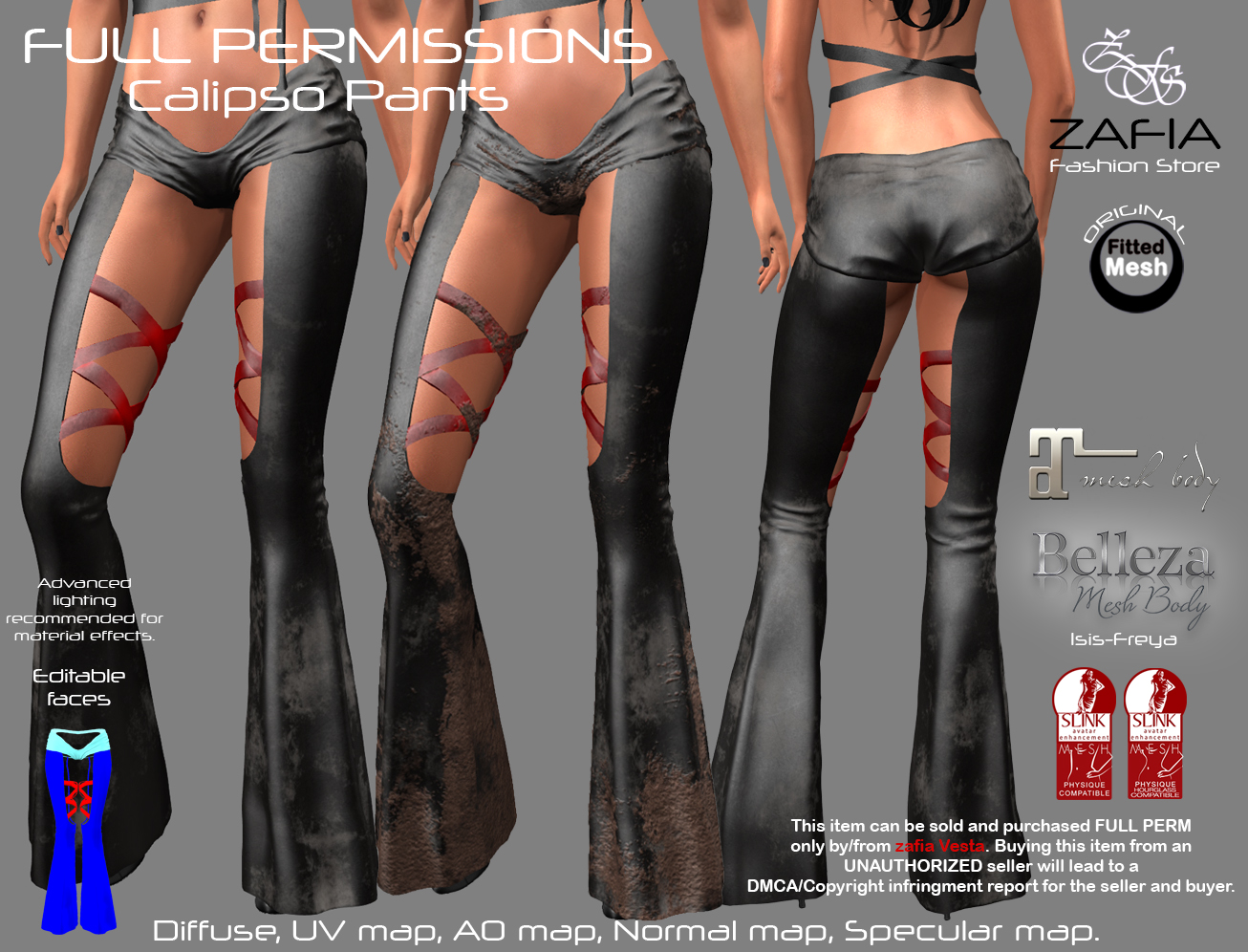 Full Perm ZAFIA Calipso Pants. – ZAFIA Fashion Store