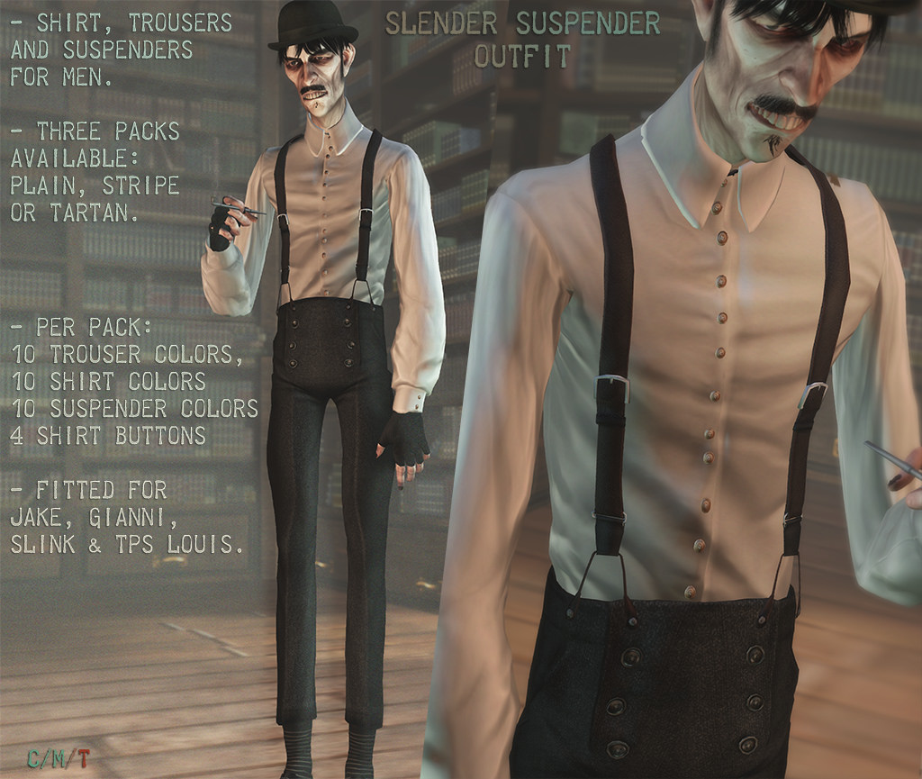 @ Equal 10 . Slender suspender outfit