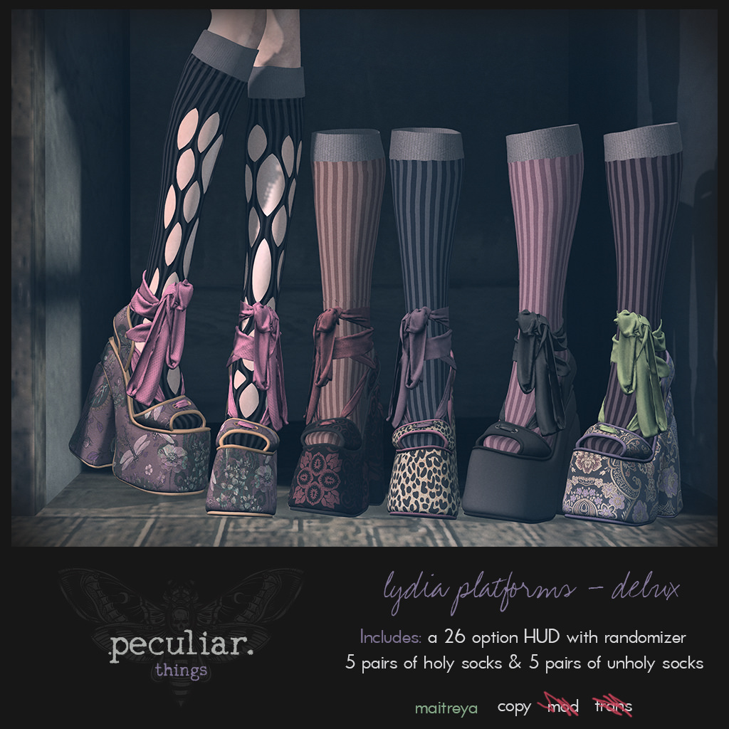 peculiar.things -  lydia platforms delux