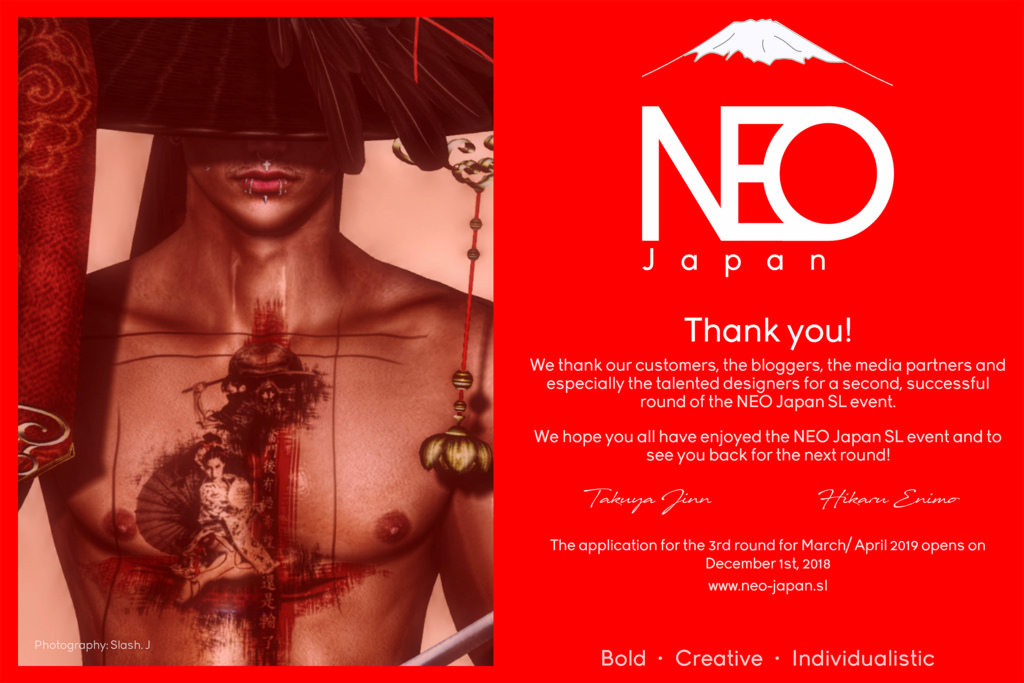 THANK YOU, for NEO-Japan Event September 2018