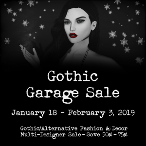 Gothic Garage Sale~50%-75% off event! | Second Life Syndicate