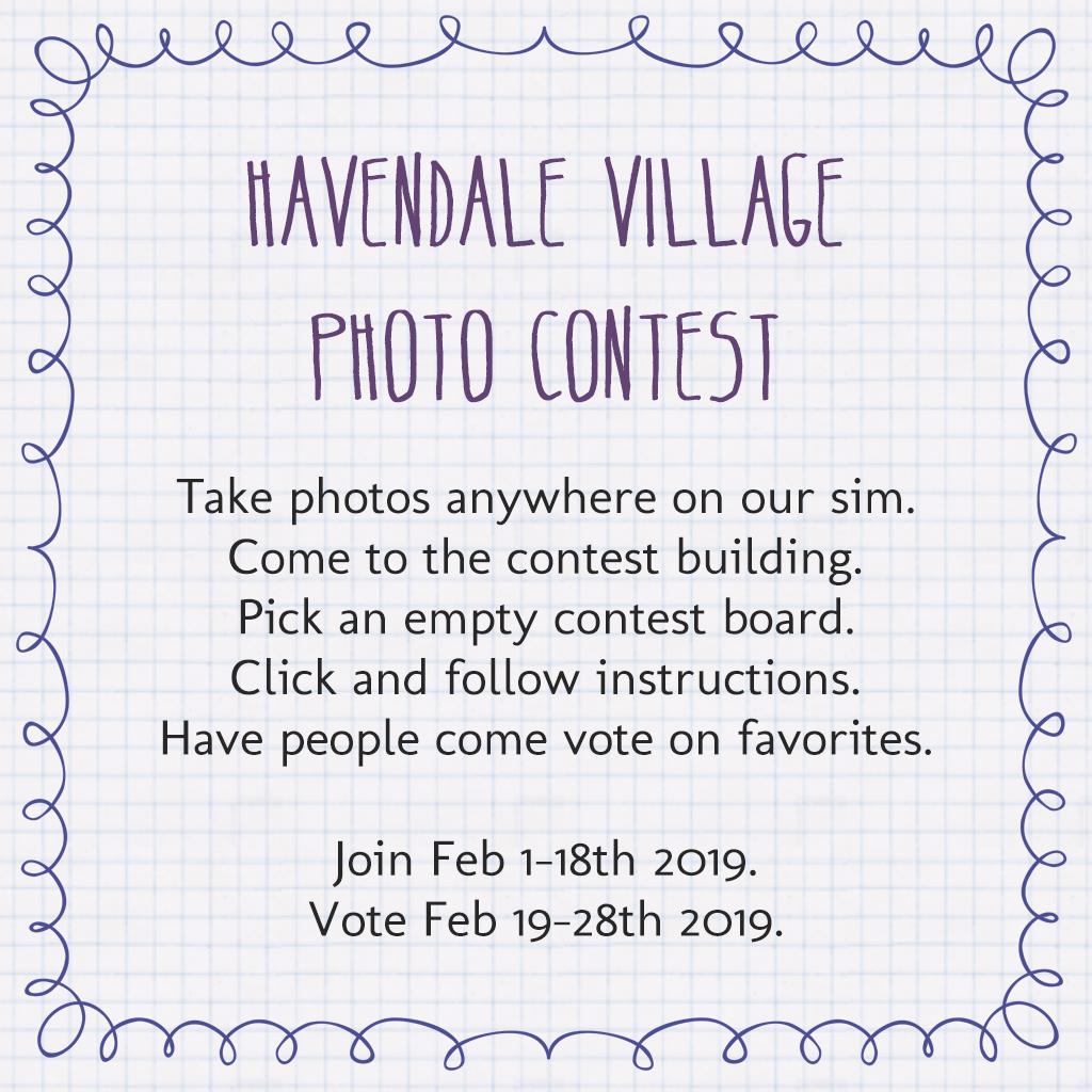 Sim Photo Contest – Havendale Village