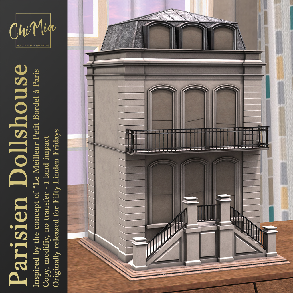 Parisien Dollshouse for FLF 8 February 2019 | ChiMia