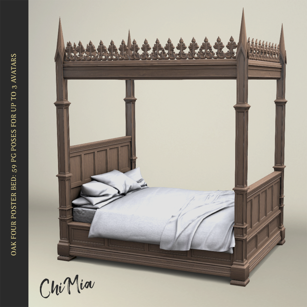 The Saturday Sale 24 August 2019: Oak Four-Poster Bed | ChiMia