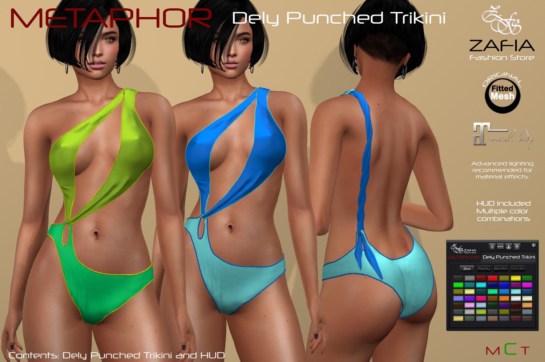 METAPHOR-Dely Punched Trikini-Maitreya – ZAFIA Fashion Store