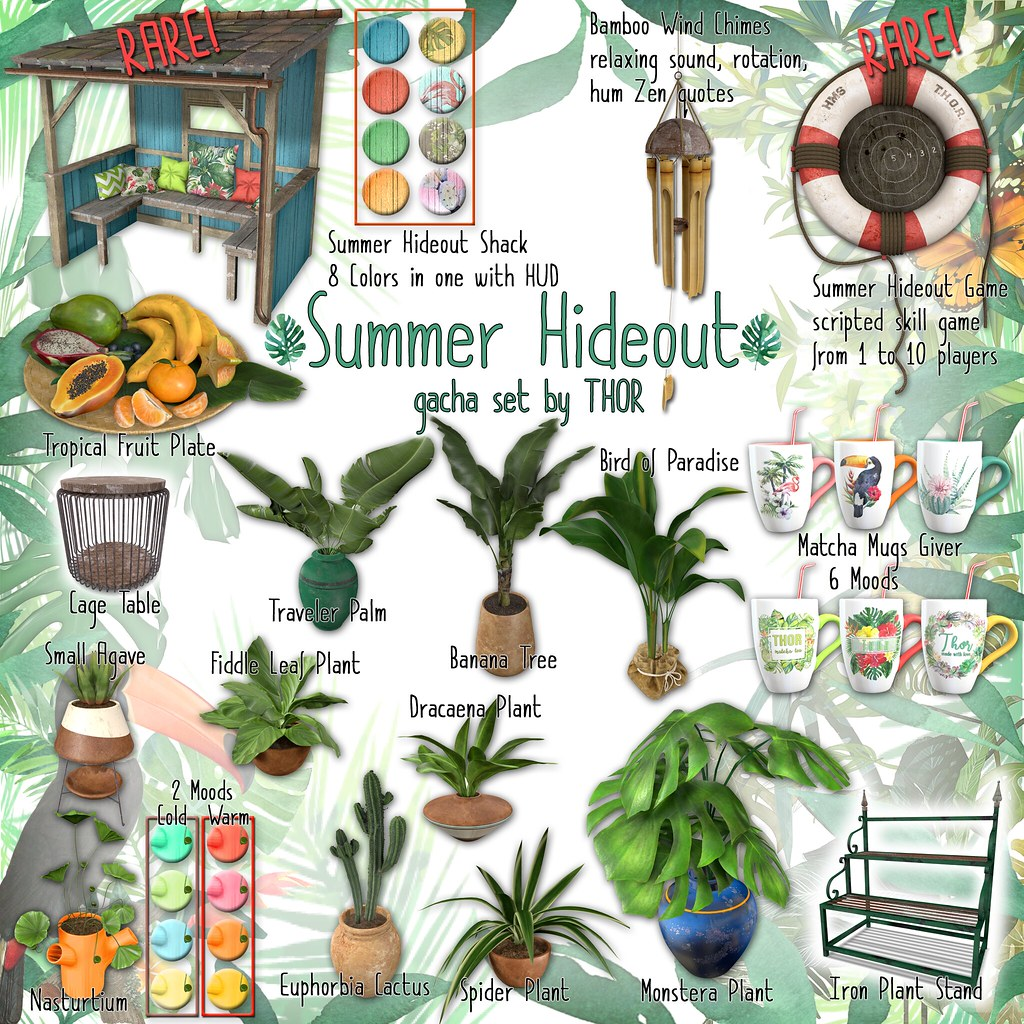 THOR - Summer Hideout Gacha Set - To Mainstore NOW!